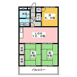 アメニティハウスI[3階]の間取り