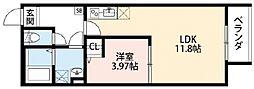 IoTアパートメント徳庵[1階]の間取り