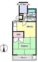 第2清水マンション[3階]の間取り