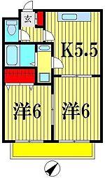ソレアード21[3階]の間取り