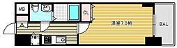エスレジデンス難波ブリエ 7階1Kの間取り