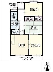 ヴィクトワール尾崎山[2階]の間取り
