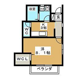 仮)ソレイユパルク11番館[1階]の間取り