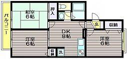 ニューセジュール三鷹[1階]の間取り