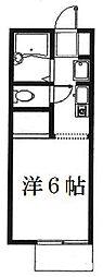 神奈川県大和市上草柳7丁目の賃貸アパートの間取り