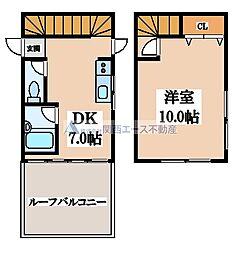 鶴橋ツリガミビル[4階]の間取り