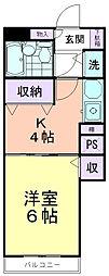 ライオンズマンション萩山第2[211号室]の間取り