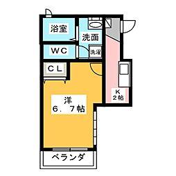 アクアキャニオンHARA[2階]の間取り