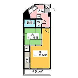 仲村ビル[4階]の間取り