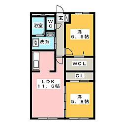 グランシャリオ横井[1階]の間取り
