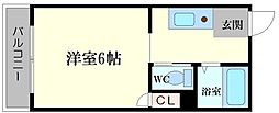 メゾン京橋[2階]の間取り