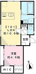仮称 カサート白金台 (Nearly ZEH-M)[101号室号室]の間取り