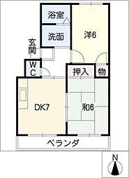 オレンジタウンB棟[2階]の間取り
