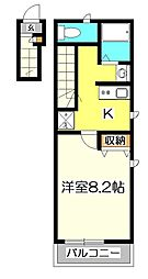ローゼル東小金井[2階]の間取り