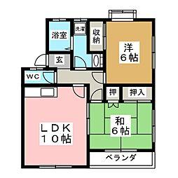第3グランドールミウラS棟[1階]の間取り