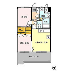 フォルスト平尾[11階]の間取り