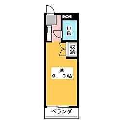 ビラ三秀神明[5階]の間取り