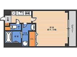 ジェンティーレ駒川 1階1Kの間取り
