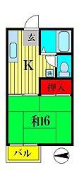 シャンブル新松戸[2階]の間取り