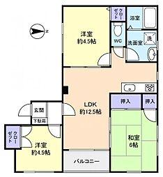 アメニティーハイム21[1階]の間取り