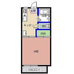 メゾンリバーグリーンB棟[103号室]の間取り