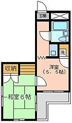 金沢八景相川ビル[205号室]の間取り