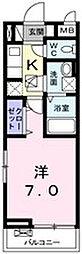 大阪府高槻市西真上2丁目の賃貸アパートの間取り