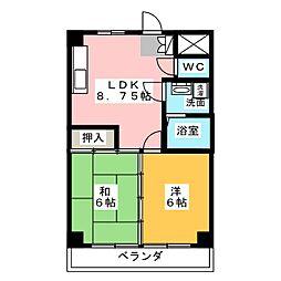 クインシティHISHINO[8階]の間取り
