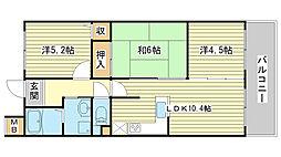 プレステージ姫路西飾磨II[702号室]の間取り