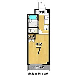 井上マンション[301号室]の間取り