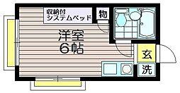 ハイムピア仙川[110号室]の間取り