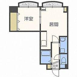 リーデンハイツ21[3階]の間取り