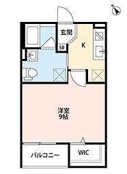 兵庫県明石市別所町5丁目の賃貸アパートの間取り