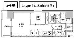 ミラージュパレス南船場[204号室号室]の間取り