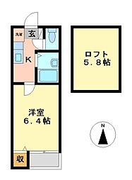 ドリーム510[2階]の間取り