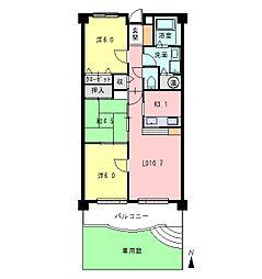 ハミング松本[1階]の間取り