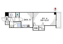 グレイスコート新宿[102号室]の間取り