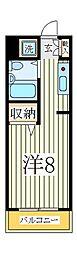 ピュア天王台[4階]の間取り