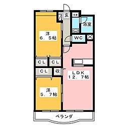 リューレント・R[3階]の間取り