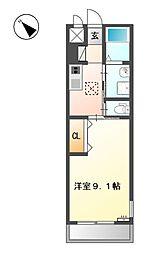 岡山県倉敷市連島4丁目の賃貸アパートの間取り