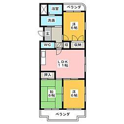 グランドヒルズITO II番館[4階]の間取り