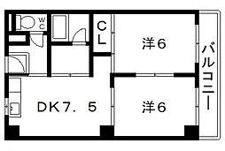松尾マンション[103号室号室]の間取り