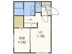 仮称)澄川2-3B棟 3階1LDKの間取り