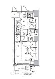 東京メトロ日比谷線 神谷町駅 徒歩4分の賃貸マンション 2階1Kの間取り