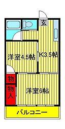 第3メゾン若竹[201号室]の間取り