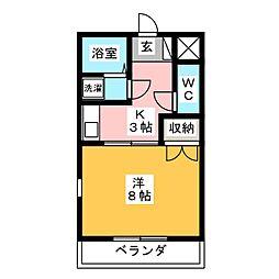 サンハイム岩塚[2階]の間取り