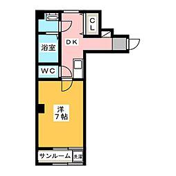 チャミー東山[4階]の間取り