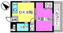山本ビル[107号室]の間取り