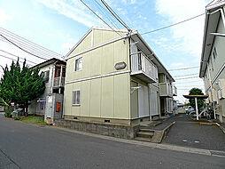 埼玉県越谷市七左町1の賃貸アパートの外観