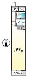 ロータリーマンション栄[4階]の間取り